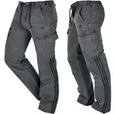 Adidas Herren Cargo Hose Jeans Denim Pant Men Trainingshose used grey dunkelgrau