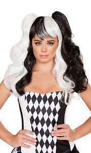Jester Wig Black & White Wig Clown Wig Halloween Wig Roma WIG104