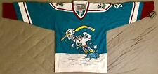 1995 Teemu Selanne Mighty Ducks of Anaheim Jade Wild Wing Jersey Men's Large