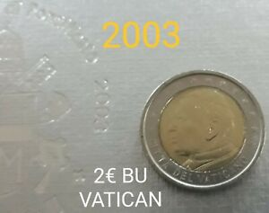 MONNAIE VATICAN 2 EURO BU 2003 JEAN PAUL II RARE UNC.refA264