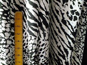 cotton jersey lycra, zebra,Leopard. black and white