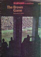 1978 Harvard vs. Brown Football Program- The Harvard Football News