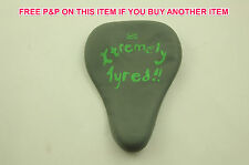 """WATERPROOF SILICONE """"SECOND SKIN"""" BIKE SADDLE COVER """"XTREMELY TYRED"""" GREEN"""