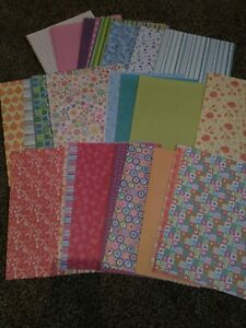 50 sheets patterned A4 paper. Loads of different designs