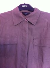 Jasper Conran Jacket Linen Khaki Military Style Size 12 Debenhams