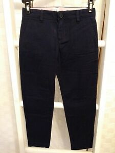 GAPkids GAP Navy Blue Flat Front Zip Up Low Rise Size 7 Regular Slim Fit...
