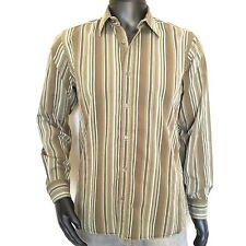 Ted Baker London Mens Button Up Dress Shirt Size 3 Medium US 38 Striped M Fitted