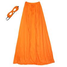 "60"" Adult Orange Superhero Cape & Mask Costume Set ~ HALLOWEEN COSTUME PARTY"