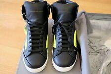 alexander mcqueen high top sneakers size 43 black fluo yellow authentic with box