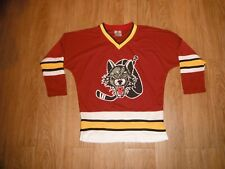 NEW Chicago Wolves Home Maroon Jersey Youth MEDIUM AHL Minor Hockey League