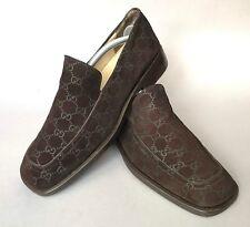 095fa37c02f Gucci brown monogram suede signature GG Guccissima loafers 42 1 2 or 9 1