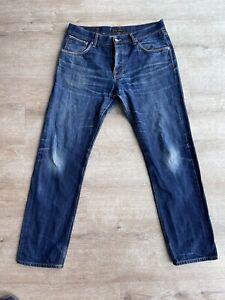 Nudie Jeans Steady Eddie Dry Selvage 34/32