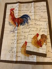 Williams Sonoma Kitchen Towell ROOSTERS Set of 2 Made in Italy
