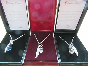 UNIQUE LOSS OF BABY MISCARRIAGE CRYSTAL ANGEL WING FEATHER PENDANT NECKLACE GIFT