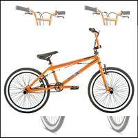 Bmx Style Kids Bike 20 Inch Wheels Sturdy Frame 4 Freestyle Pegs Orange Bicycle