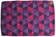 Coton Doux Tapis tapis de bain 60cmx90cm Rose Pourpre Fait à la main Géométrique