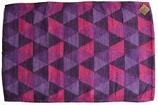 Soft Cotton Rug bath mat 60cmx90cm Purple Pink Handmade Geometric Clearance Sale