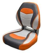 Wise Torsa Sport Folding Boat Seat   Sunburst Orange / Reef Stone / Sky Grey
