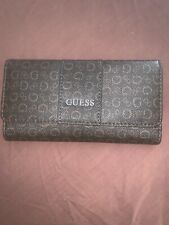 GUESS Ladies Womens WARE SLG Trifold Wallet Clutch Brown New NWT