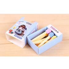 8pcs Mini Mignon Petit match caoutchouc gomme à effacer Ecole cadeau enfant