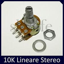 Potenziometro STEREO 10K lineare potenziometri monogiro 6mm - 1 pezzo 10 Kohm
