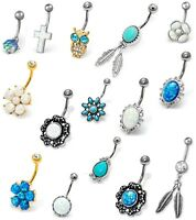 Set of 5 x Christmas Belly Bars Tongue Bars Xmas Body Piercing Jewellery NEW IN