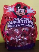 Disney Mickey & Minnie Mouse Classroom Valentine Hearts w/ Candy 18ct EX: 7/2018