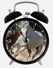 "White Horse Alarm Desk Clock 3.75"" Home or Office Decor E375 Nice For Gift"