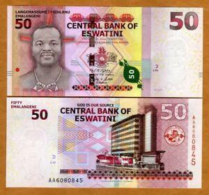 Eswatini (Swaziland), 50 Emalangeni 2018 (2021), P-New UNC > New Country Name