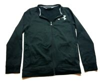 Under Armour Youth Boys Black Long Sleeve Zip Up Jacket Size XL Loose