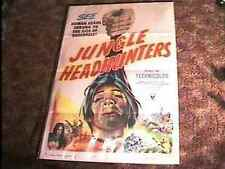 JUNGLE HEADHUNTERS MOVIE POSTER '51 WILD CANNIBALS