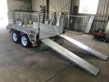 8x5 Heavy Duty Tandem Galvanized Plant Trailer- 2ft Cage - Slide Under Ramps
