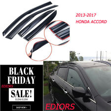 For Honda Accord 2013-2017 4XUpdated Side Window Visor Rain Sun Guard Vent Shade