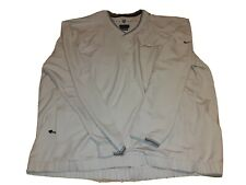 Nike BNSF Golf Tan Pullover Windbreaker Jacket Mens 2Xl XXL railroad Swoosh