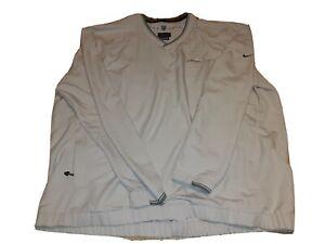 Nike BNSF Golf Tan Pullover Windbreaker Jacket Mens 2Xl XXL railroad Swoosh