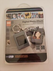 Digital Photo Album With Keychain 8Mb/USB Rechargeable - NEW grey