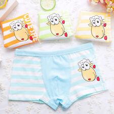 Newly Boy's Boxer Briefs Striped Child Panties Cartoon Sheep Comfort Boxers 4PCS