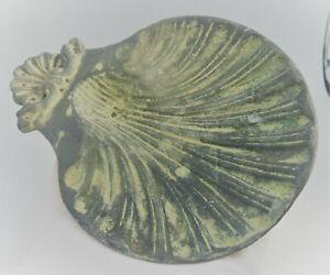 CIRCA 100BC-100AD ANCIENT CELTIC BRONZE VOTIVE OFFERING VESSEL SUPERB