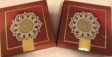Lenox Ivory Set Of 2 Ivory Snow Lights Tea Light Holders & Star Charm Ornament