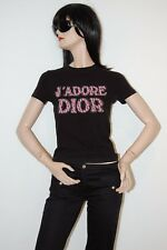 Christian Dior Rhinestone Crystal Black Top US6