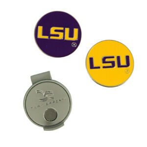 (LSU) - LSU Tiger Hat Clip and Ball Markers. Team Effort. Shipping is Free