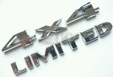4x4 & LIMITED BADGE SET LOGO JEEP LETTERING BADGES GRAND CHEROKEE WRANGLER