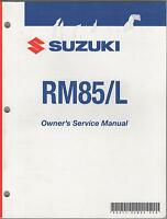 2007 SUZUKI MOTORCYCLE RM85/L P/N 99011-02B82-03A OWNERS SERVICE MANUAL (248)