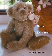 "Mohair or Plush ""Dusty"" Teddy Bear Pattern by Neysa A. Phillippi of Purely Neysa"