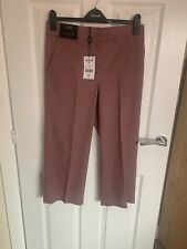 Next Tailoring Pink Check Culottes 8R