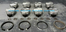 Chevy 7.4/454 Silvolite Hypereutectic 30cc Dome Pistons+Moly Rings +.060""