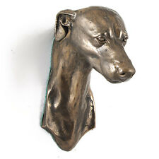 Whippet, dog statuette to hang on the wall, UK