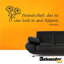 Wandtattoo Spruch Zitat Freundschaft Liebe Wandbild Wandaufkleber Sticker Deko