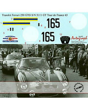 1/12 FERRARI 250 GTO DECAL TOUR DE FRANCE 1963 No. 165 #5111 GT for REVELL