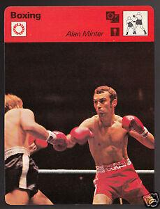 ALAN MINTER British Boxing Boxer vs French Reiche 1978 SPORTSCASTER CARD 50-09